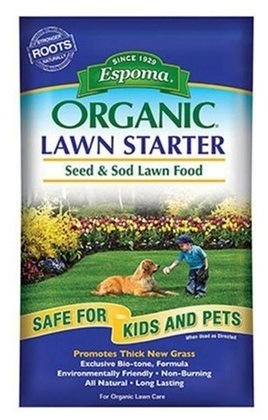 Espoma Organic Lawn Starter Seed and Sod Food Fertilizer